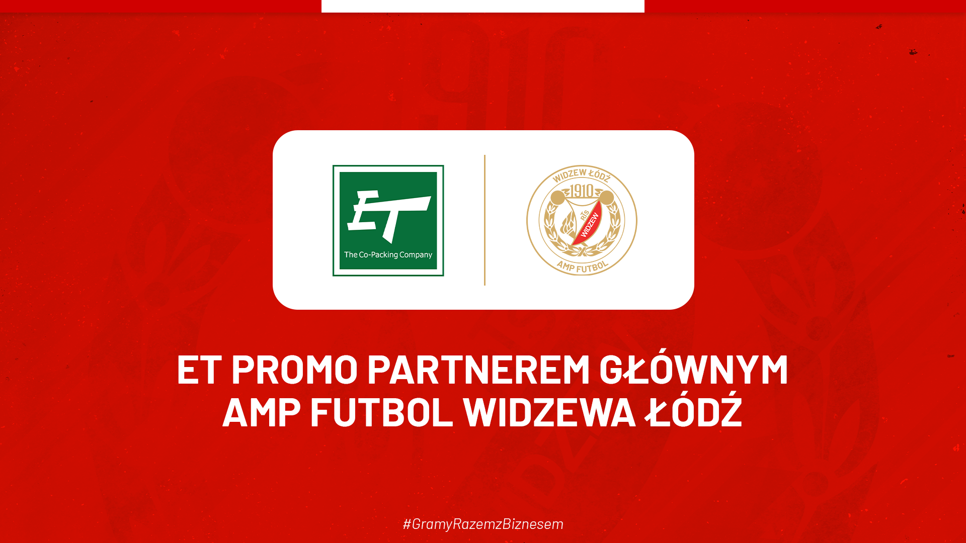 ET Promo partnerem głównym widzewskich amp-futbolistów